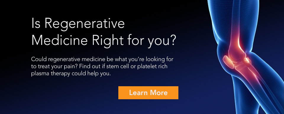 regenerative medicine - platelet rich plasma - stem cell therapy